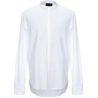 《セール開催中》HSIO メンズ シャツ ホワイト 43 コットン 68% / ナイロン 29% / ポリウレタン 3%