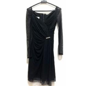 タダシ TADASHI ドレス サイズ2 M レディース 黒 ラインストーン/シースルー【中古】20191025