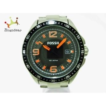 フォッシル FOSSIL 腕時計 美品 AM-4359 メンズ 黒   スペシャル特価 20200204