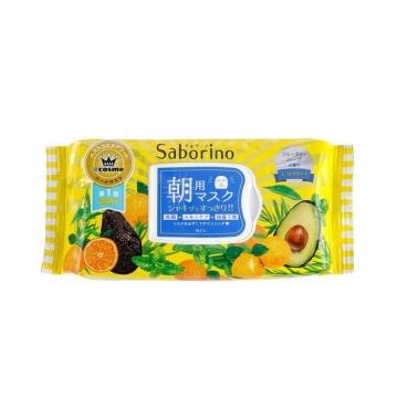 日本 BCL Saborino 早安面膜 黃色保濕型-32入