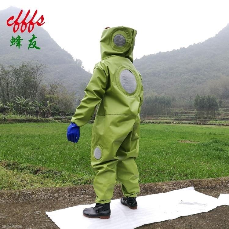 防蜂服連體服馬蜂加厚防蜂衣全套透氣專用捉螞蜂衣抓虎頭防護服