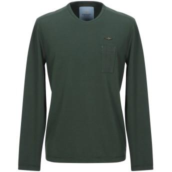 《セール開催中》AERONAUTICA MILITARE メンズ T シャツ グリーン M コットン 100%