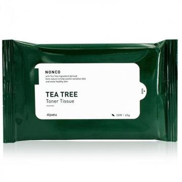 APIEU 茶樹精華舒緩化妝水濕巾(20抽)