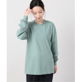 ジャーナルスタンダード 6.5oz Long Sleeve Garment Dye:カットソー レディース カーキB XL 【JOURNAL STANDARD】