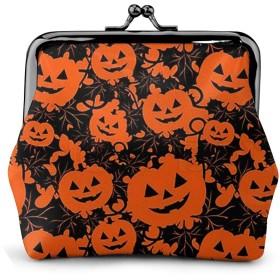 コインケース ハッピーハロウィンかぼちゃ 財布 小銭入れ レディース可愛い ミニ化粧ポーチ