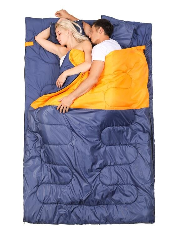 睡袋探險者防寒三人雙人睡袋大人情侶成人戶外野外露營旅行夏季便攜式