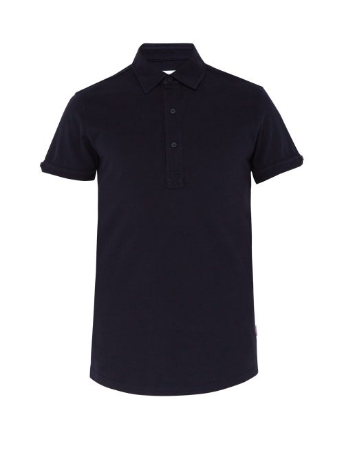 Orlebar Brown - Sebastian Tailored Polo Shirt - Mens - Navy