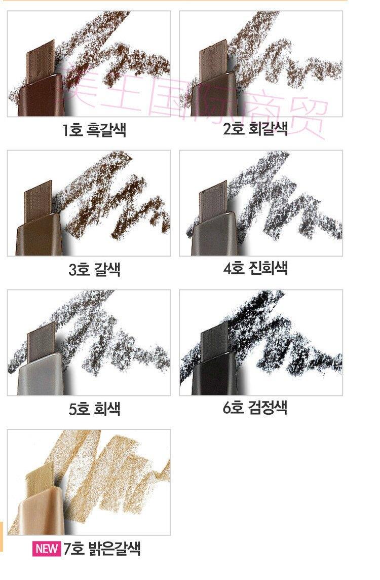 『韓國代購』 Etude House 素描高手造型增量版眉筆0.25g 雙頭式 自然畫眉筆 愛麗小屋 多色可選