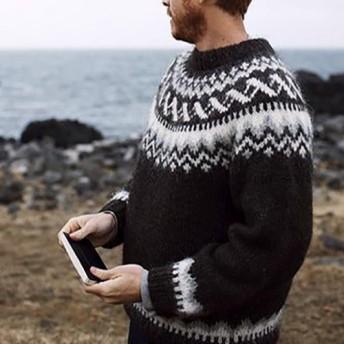 【限定】北欧風刺繍たっぷり ウール・ セーター ニットLH733