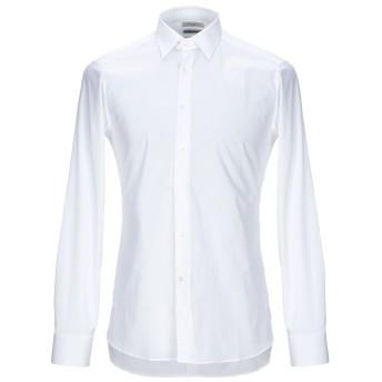 《セール開催中》PAOLO PECORA メンズ シャツ ホワイト 38 コットン 97% / ポリウレタン 3%