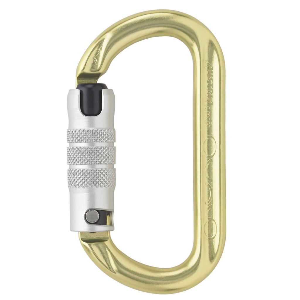 奧地利 AUSTRIALPIN OVALO 鋁合金二段自動上鎖鉤環 黃色