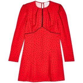 《セール開催中》TOPSHOP レディース ミニワンピース&ドレス レッド 6 ポリエステル 100% RED PIPED KEYHOLE MINI DRESS