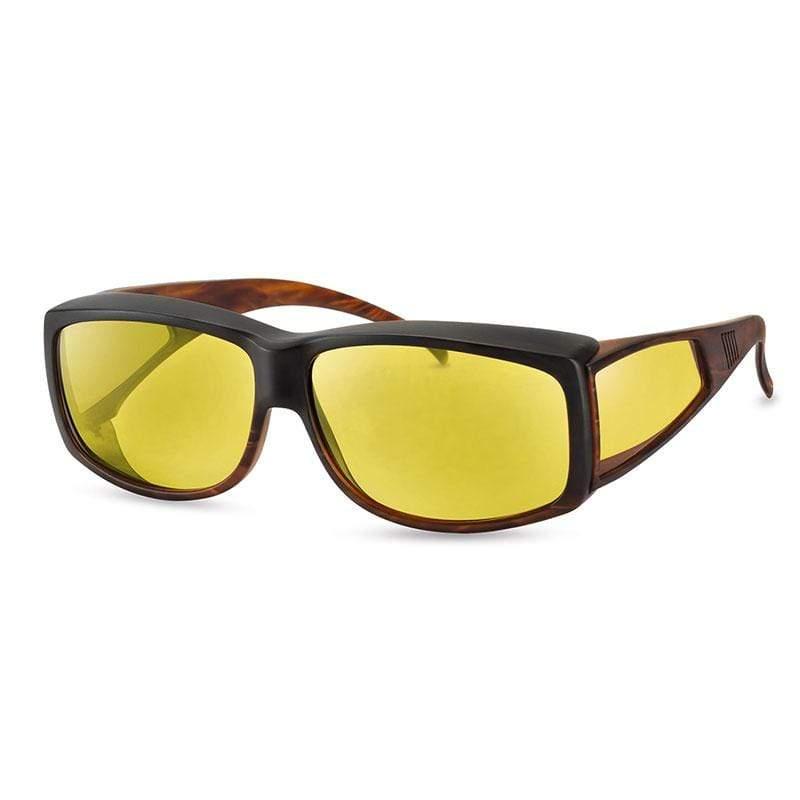 wellnessPROTECT XL Drive 德國製高防護包覆式濾藍光套鏡 15%亮黃色 套鏡大框 (65□12-145)