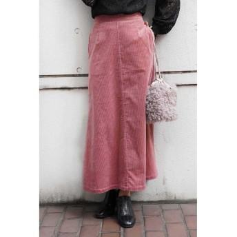 【70%OFF】 フリーズマート 太コーデュロイマーメイドスカート レディース ピンク S 【FREE'S MART】 【セール開催中】