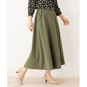 【SALE(三越)】<SHOO LA RUE/シューラルー> ラップ風タックデザインスカート(2001570766) カーキ【三越・伊勢丹/公式】
