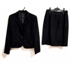 インディビ INDIVI スカートスーツ サイズ38 M レディース 黒 ラメ【中古】20191026