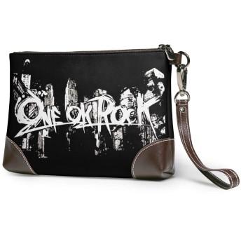 ジョイスウォール One Ok Rock ロゴ かっこいい クラッチバッグ メンズ レザー 大容量 高級感 多機能 撥水 高耐久 人気 旅行出張 結婚式