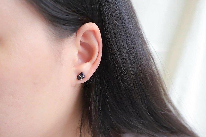 耳環/夾式耳環銀石財富石繁榮