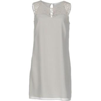 《セール開催中》PATRIZIA PEPE レディース ミニワンピース&ドレス ライトグレー 40 シルク 100% / ナイロン / コットン