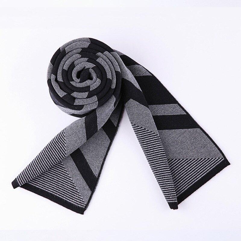 圍巾針織披肩-羊毛條紋休閒百搭男配件2色73wi33【獨家進口】【米蘭精品】