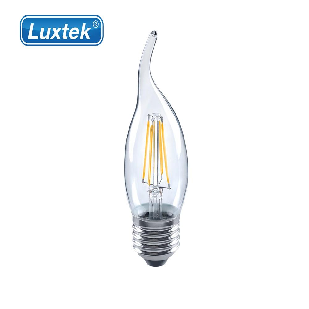 Luxtek 樂施達 Led 拉尾蠟燭型燈泡 4W E27 黃光