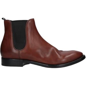 《セール開催中》BUTTERO メンズ ショートブーツ ブラウン 44 革 / 紡績繊維