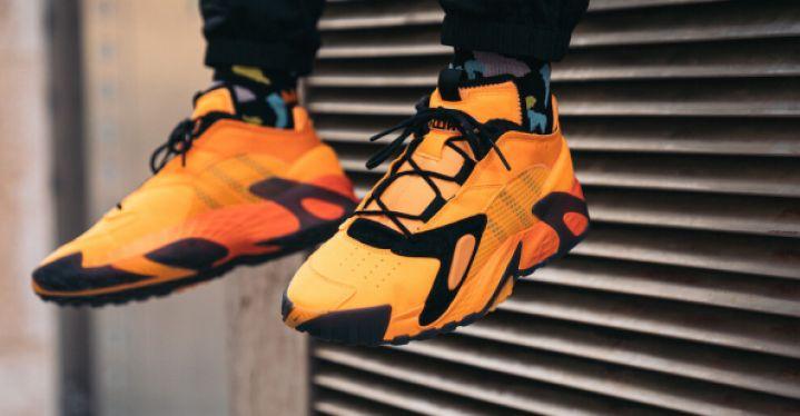 【日本海外代購】Adidas Steerball 橘 黃 黑 黑橘 黑黃 漸層 老爹鞋 籃球鞋 休閒運動 男鞋 EF9598