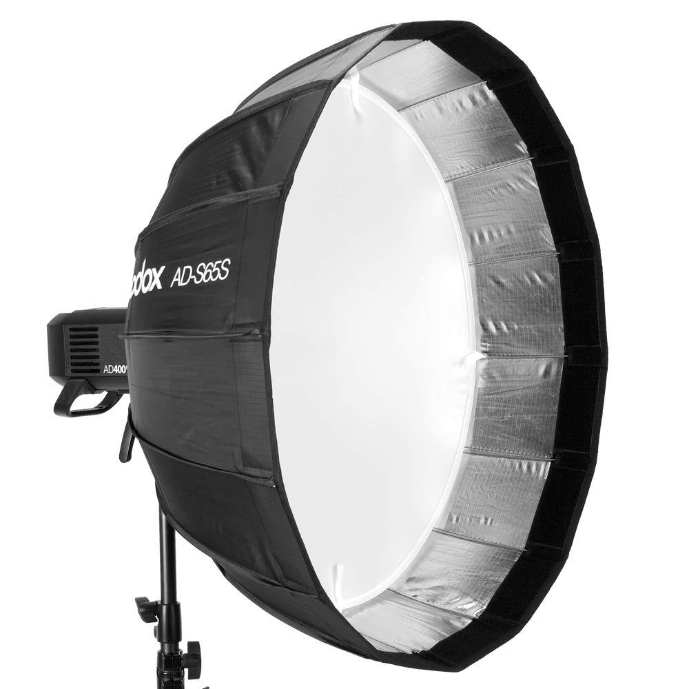 ◎相機專家◎ Godox 神牛 AD-S65S AD-S65W 銀/白 16片摺傘式柔光罩 65cm 適用 AD400Pro AD300Pro 開年公司貨