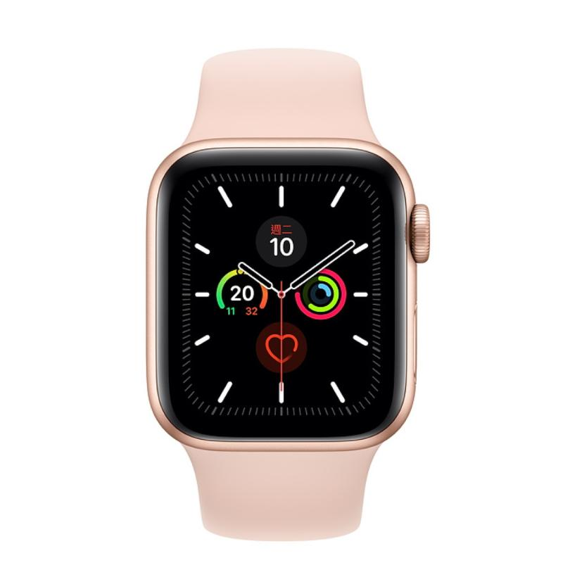 Apple Watch S5 GPS 40mm 金色鋁金屬-粉沙色運動型錶帶