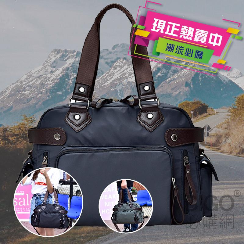 年度最新韓款🔥 時尚牛津手提包 深藍色 手提 側背 肩背 背包 休閒包 手提包 商務包 超大容量 時尚包包 實用包包
