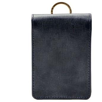 ギャレリア GLENROYAL グレンロイヤル LAKELAND BRIDLE COLLECTION CARD CASE WITH RING カードケース 03 5924 ユニセックス ダークブルー F 【GALLERIA】