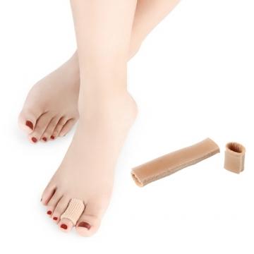 【JHS杰恆社】單面纖維套新款矽膠腳趾套開口可裁剪防磨腳防打腳abe55