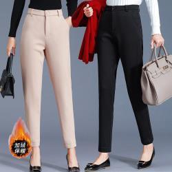 麗質達人 - 2239加厚保暖修身九分褲-二色