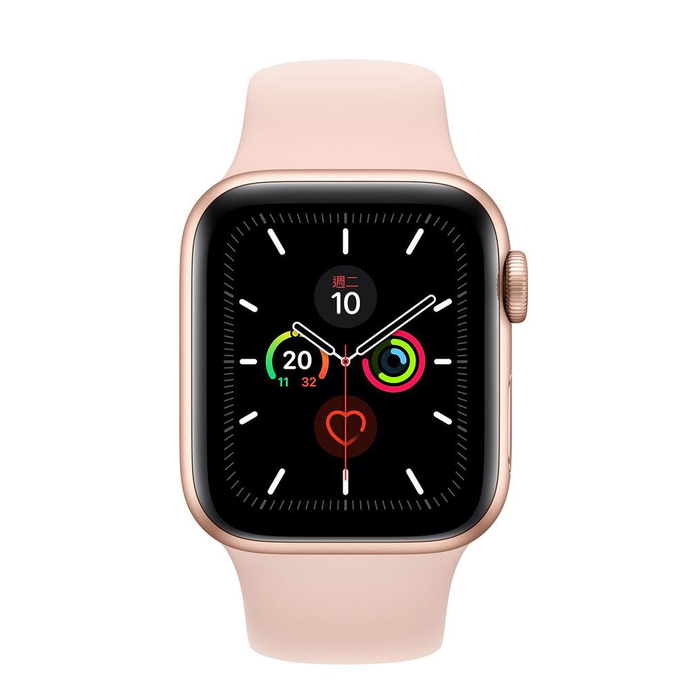 Apple Watch S5 GPS版 44mm金色鋁錶殼配粉沙色運動錶帶MWVE2TA