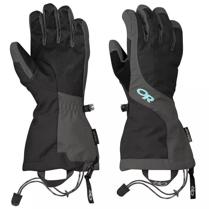 【Outdoor Research 美國】Arete 二件式保暖手套 防水手套 滑雪手套 賞雪手套 Gore-Tex 女款 黑/碳灰 (271616-0189)