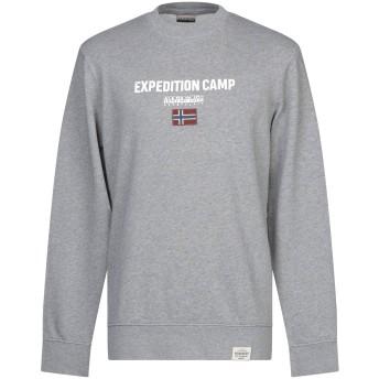《セール開催中》NAPAPIJRI メンズ スウェットシャツ グレー XL コットン 100%