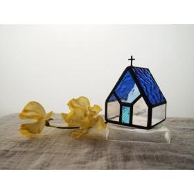 [Iglesia cobalto] Led専用キャンドルホルダー・ステンドグラス