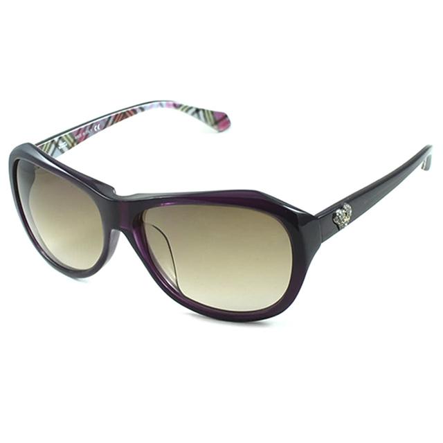【Vivienne Westwood】英國精品時尚不規則系列造型太陽眼鏡(VW74404-紫)