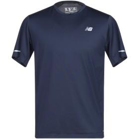 《セール開催中》NEW BALANCE メンズ T シャツ ダークブルー S ポリエステル 93% / ポリウレタン 7%