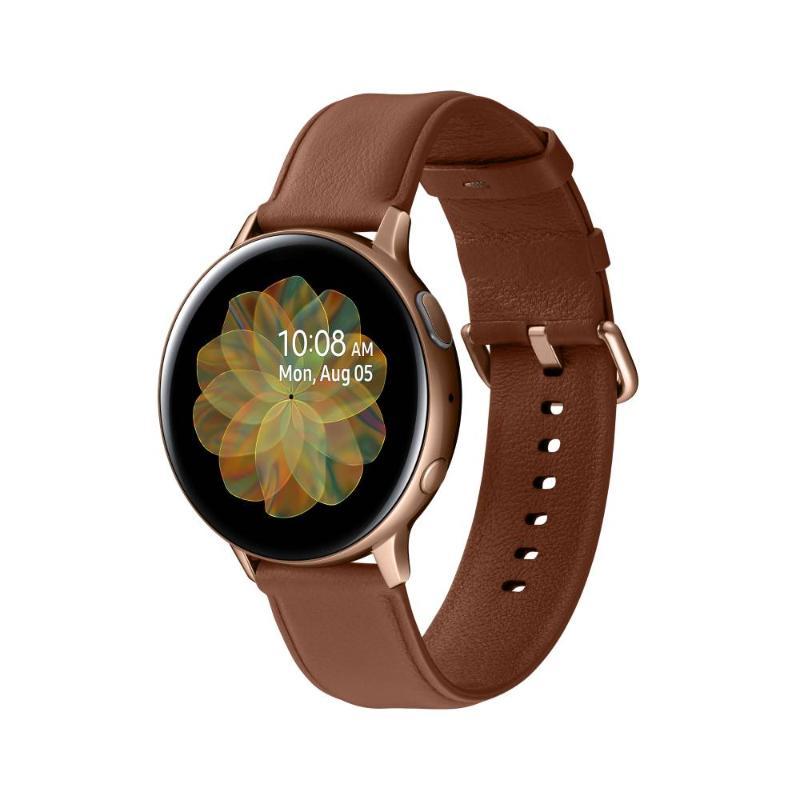 SAMSUNG Galaxy Watch Active2 GPS藍牙智慧手錶 不鏽鋼 44mm香檳金(R820)