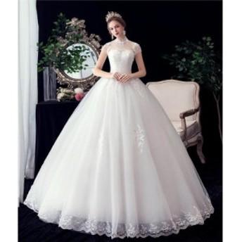 高品質 韓国 ファッション 花嫁ウェディングドレス 二次会 結婚式 パーティードレス 発表会 ステージドレス 撮影 ホワイト 大きいサイズ