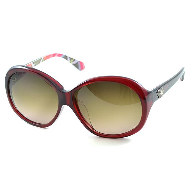 【Vivienne Westwood】英國精品時尚心鑽系列造型太陽眼鏡(VW74303-紅)