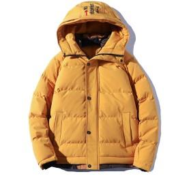 FHLHY ダウンジャケット メンズ 中綿 ダウン 厚手 秋冬 コート フード付き ジャンパー 防寒 冬服