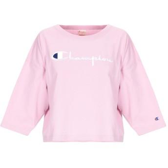 《セール開催中》CHAMPION レディース T シャツ ピンク S コットン 80% / ポリエステル 20%