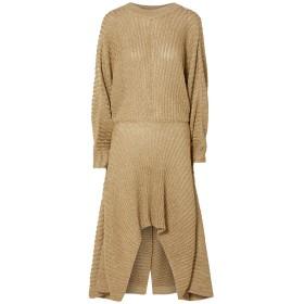 《セール開催中》CHLO レディース 7分丈ワンピース・ドレス ゴールド XL レーヨン 65% / 金属繊維 34% / ナイロン 1%