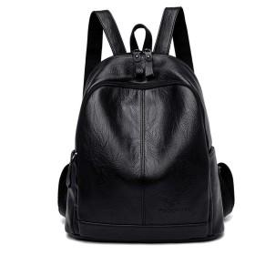 女の子プレッピー、黒人女性レザーバックパックヴィンテージ女性のショルダーバッグ旅行レディースバックパックスクールバッグ