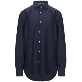 《セール開催中》ELEVENTY メンズ シャツ ダークブルー 45 コットン 100%