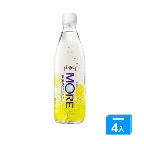 多喝水檸檬風味氣泡水560mlx4【愛買】