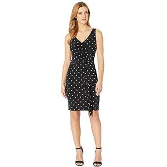 [LAUREN Ralph Lauren(ローレンラルフローレン)] ドレス・ワンピース H7P Driver Dot Leamon Sleeveless Day Dress Black/Colonial Cream XXS [並行輸入品]