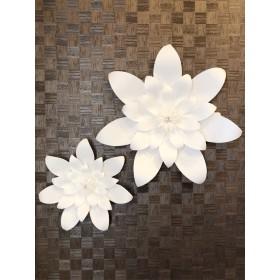 ⃘大きな白いお花の壁飾り Paper Flower E